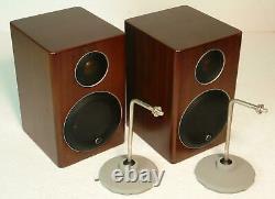 Moniteur Audio Radius 90 100w Hifi Mini Moniteurs Haut-parleurs En Noyer + Supports