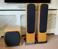 Moniteur Audio Silver Rs6 Stereo Speakers + Rsw12 Sub In Oak