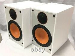 Moniteur Audio'monitor 100' Librairie Haut-parleurs Paire Blanche