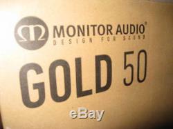 Monitor Audio 50 Or Salut Fi Haut-parleurs. Blanc Laqué Mint Condition