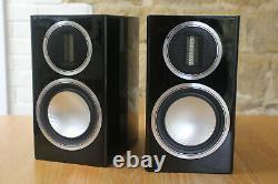 Monitor Audio 50 Or Salut Fi Haut-parleurs. Noir Laqué