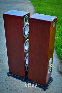 Monitor Audio Rs8 Stéréo Haut-parleurs Rosenut + Floorstanding Orig. Pack. Vgc