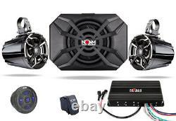 Noam Nutv5-s Bluetooth Étanche Utv Rzr Polaris Haut-parleurs Stereo Système Audio