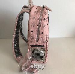 Nouveau MCM X Wizpak Visetos Bluetooth Sound System Stéréo Sac À Dos Blush Pink