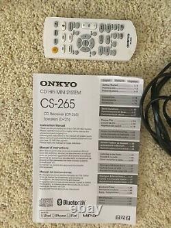 Onkyo Cs-265 Système Audio CD Hi-fi Mini Stéréo Avec Haut-parleurs Télécommande Et Bluetooth