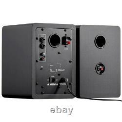 Paire 60w Haut-parleur Alimenté Actif Avec Audio Stéréo Bluetooth Pc De Bureau