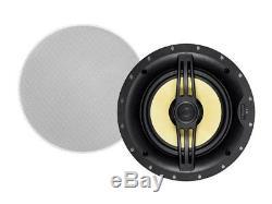 Paire De 2 Voies 160w 8 In-wall Encastré Stéréo Audio Haut-parleur En Kevlar