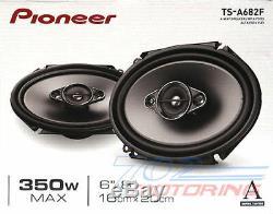 Pioneer Ts-a682f 350 W Max 6x8 4-way 4-ohm-parleurs Stéréo Rca Coaxial Audio