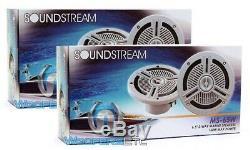 Pkg 2 Ensembles Soundstream Ms-65w 6.5 Enceintes Marine + Rockford Rfx9700cd Stereo