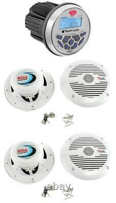 Planet Audio Pgr35b 3.5 Gauge Marine Mp3/radio Récepteur Bluetooth+4 Haut-parleurs