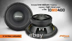 Président 4x Audio 10mb400 MID Prv Basse Car Stereo 10 8 Ohms 10mb Pro 1600 Watts