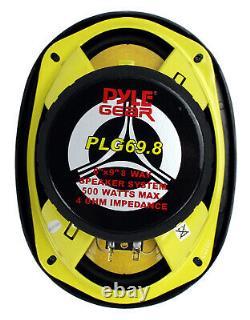 Pyle Plg69.8 6 X 9 Pouces 8-way 500w Auto Audio Stéréo Haut-parleurs Coaxiaux (8 Pack)