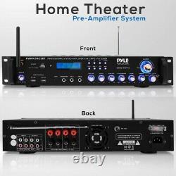 Pyle Pwma3003bt. Nouveau Récepteur Stéréo Multicanaux Audio Pro Avec (2) Fils Vhf