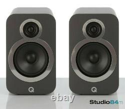 Q Acoustics Q3020i Bookshelf Noir Compact Audio Haut-parleurs Hi-fi Stéréo (paire)