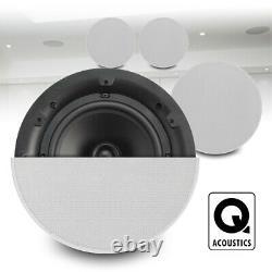 Qi65cb 6.5 Haut-parleur De Plafond Stéréo 60w Hifi Shop Installation Audio (x4)