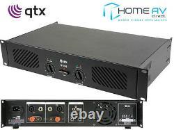 Qtx Q1000 Stereo Power Amplificateur 1000w Haut-parleur Sound System Dj 2 X 500w 172.055