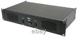 Qtx Q240 Amplificateur De Puissance Stéréo 240w Haut-parleur Son Système Dj Disco 2 X 120w