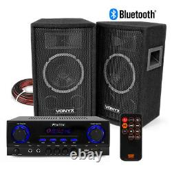 Sl6 Hifi Haut-parleur Set Et Amplificateur Stéréo, Bluetooth Mp3 Home Audio Music System