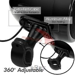 Stéréo Bluetooth 1000w Amp Moto Étanche 4 Haut-parleurs Audio Système Radio