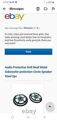 Stormtrooper Relevé Métal Grill 2pcs Haut-parleur Protéger La Garde Voiture Audio Stéréo Sub
