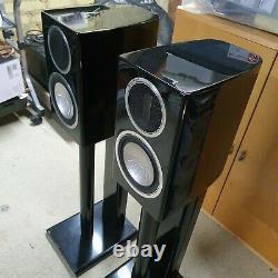 Surveillez Les Haut-parleurs Audio Gold Gx50 Hi Fi. High Gloss Black, Stands Non Inclus