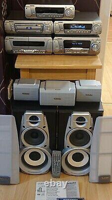Technics Sc-dv290 DVD Hi Fi Sépare Le Système + Haut-parleurs + Processeur Audio Supplémentaire