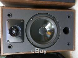 USA Vintage Polk Audio Made Moniteur 4 Série II / 2 Veine Du Bois Haut-parleurs Stéréo