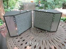 Vintage Akai Ss-40 Stereo Phonic Sound Hi-fi Haut-parleurs Retro Mid-century