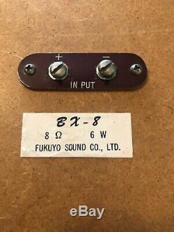 Vintage Fukuyo Corail Système De Son Stéréo Haut-parleurs Bx-8 Propriétaire D'origine Japon 1960