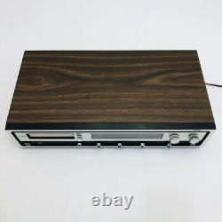 Vintage Rca Vibra Am Fm Système Audio Stéréo 8 Pistes Avec Haut-parleurs Originaux Vtg
