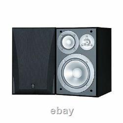 Yamaha Ns6490 Librairie Haut-parleurs Audio Stereo Finish 3 Way Elegant Paire Noir